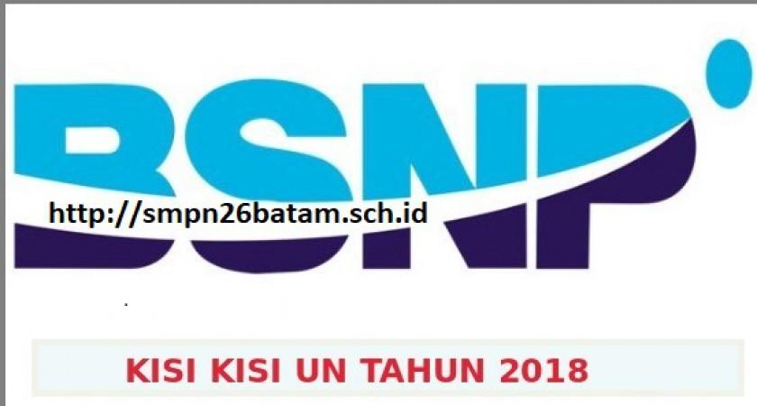 DOWNLOAD KISI-KISI UN SMP/MTS SMA/MA/ SMK/MAK TAHUN 2018 (TAHUN PELAJARAN 2017/2018)