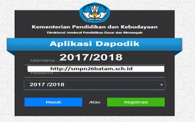 Rilis Aplikasi Dapodik Versi 2018 Tahun Pelajaran 2017/2018